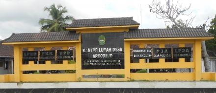 Papan nama Desa