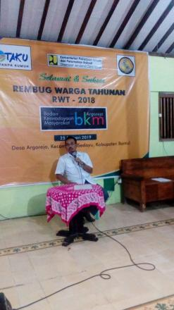Rembug Warga Tahunan (RWT)  BKM Desa Argorejo