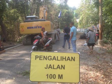 Pembangunan jembatan Ngentak-Kepuhan dimulai