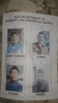 Pemilihan Ketua RT 32 Bandut Lor