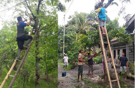 Warga Argorejo Gotong Royong Benahi Lingkungan